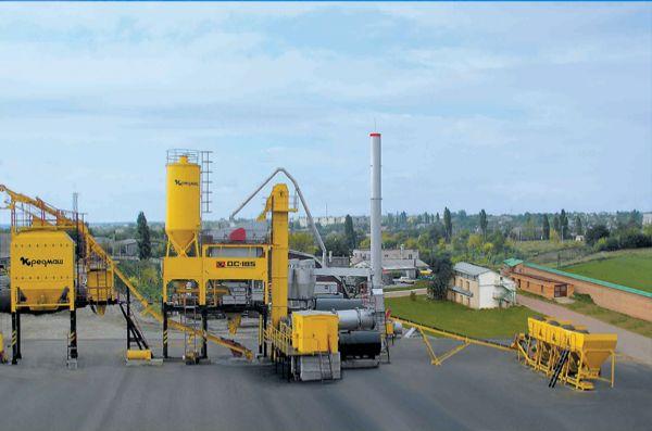 Завод АБЗ ДС-185 - фото с боку
